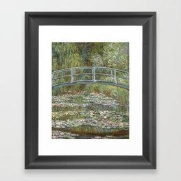 Water Lily Pond (Japanese Bridge) Framed Art Print