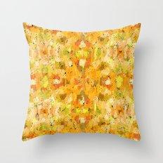 Orange vegetables abstract art Throw Pillow