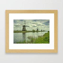 Windpumps of the Kinderdijk Framed Art Print