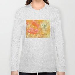 Serenity Prayer Orange Poppy Garden Glow Long Sleeve T-shirt