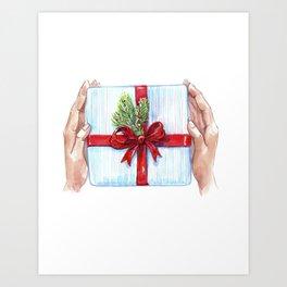 Cadeau du Nouvel An pour les proches. Art Print