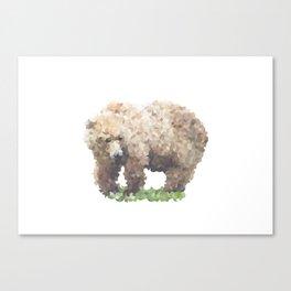 Penrose Tiling Bear Canvas Print