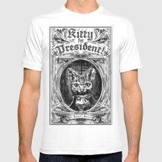 Kitty For President MEDIUM White Mens Fitted Tee