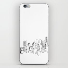 cubes and balls in the city iPhone Skin