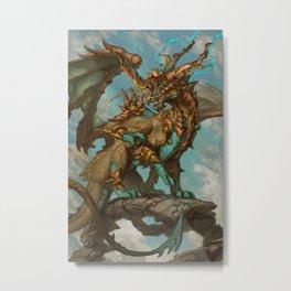 Zodiac Dragons Calendar Sagittarius Metal Print
