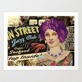 BB Jazz Stop  Art Print