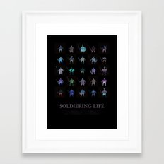 Soldiering Life Framed Art Print