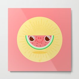 Watermelon with large nostrils Metal Print