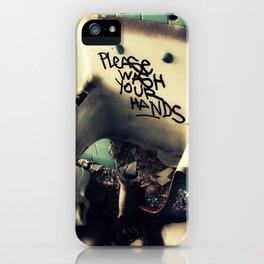 Wash Yr Hands iPhone Case