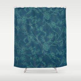 Flower Pattern (Green version) Shower Curtain