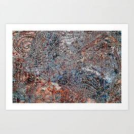 Map city Art Print