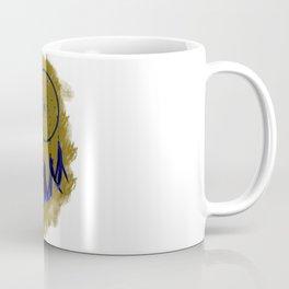 Dreamcatcher Deep Blue Darkness: Sand background Coffee Mug