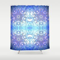 frozen Shower Curtains featuring Frozen Stars Periwinkle Lavender Blue by 2sweet4words Designs