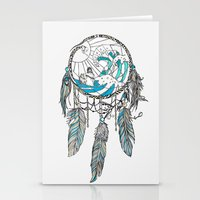 dream catcher Stationery Cards featuring Dream Catcher by Huebucket