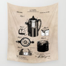 patent China Coffee pot - Blanke - 1909 Wall Tapestry