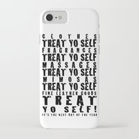 treat yo self iPhone & iPod Cases featuring Treat Yo Self by Cactus And Fog