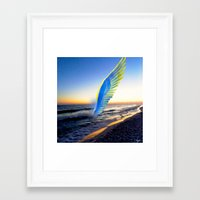 angel Framed Art Prints featuring Angel  by Saundra Myles