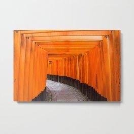 Fushimi Inari Walkway Metal Print