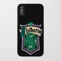 slytherin iPhone & iPod Cases featuring Slytherin by Zeynep Aktaş