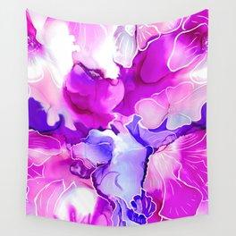 Purple Posies Wall Tapestry