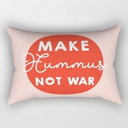 Make hummus not war Rectangular Pillow