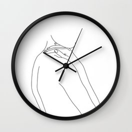Nude woman illustration - Juliet Wall Clock