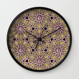 Rose Gold Pussy Pattern Wall Clock