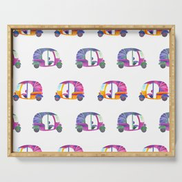 Funky rickshaws pattern Serving Tray