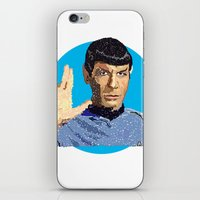 spock iPhone & iPod Skins featuring Spock by Connor Corbett