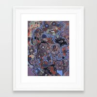 oil Framed Art Prints featuring Oil by Benjamin Paskins