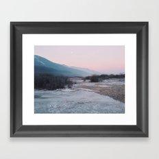 Frozen morning Framed Art Print