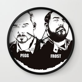Simon Pegg & Nick Frost Wall Clock