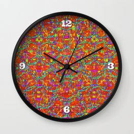 Verre Colore Pattern Wall Clock