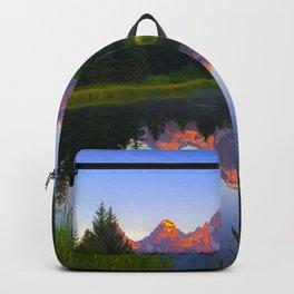Grand Teton National Park Wyoming Landscape Mountain Sunrise Backpack