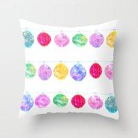 lanterns Throw Pillows featuring Lanterns by Kara Hayley