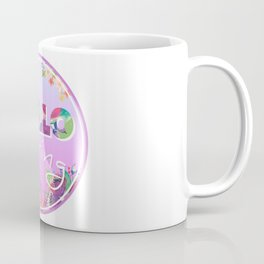 Hello Spring, Flowers, circle Coffee Mug
