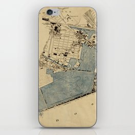 Vintage Map of The Charles River (1894) iPhone Skin