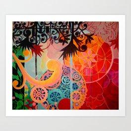 """Wheels are Turning""  Art Print"