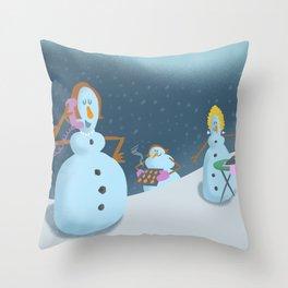 Snow Moms Throw Pillow