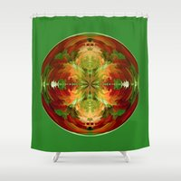 globe Shower Curtains featuring Amazed globe by Robert Gipson