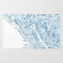 Map Seattle Washington Blueprint watercolor map Rug