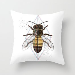 BeeSteam Throw Pillow