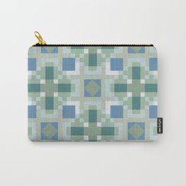 Gentle Shaded Plaid Carry-All Pouch