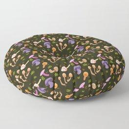 Mushroom Dark Forest Floor Pillow