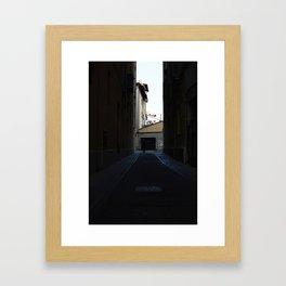 man in the square Framed Art Print