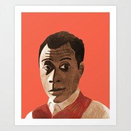 Portrait of James Baldwin Art Print