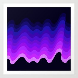 Ultraviolet Retro Ripple Art Print