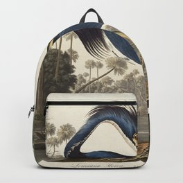 Louisiana Heron from Birds of America (1827) by John James Audubon, etched by William Home Lizars Backpack