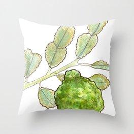 tea botanicals | Bergamot // earl grey Throw Pillow