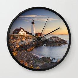 I - Portland Head Lighthouse, Maine, USA at sunrise Wall Clock